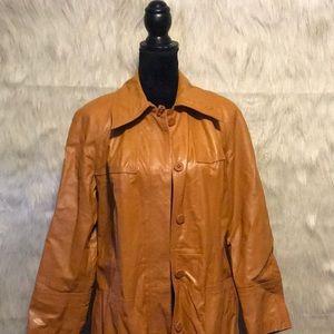 suburban Heritage Vintage Tan Leather Jacket 14